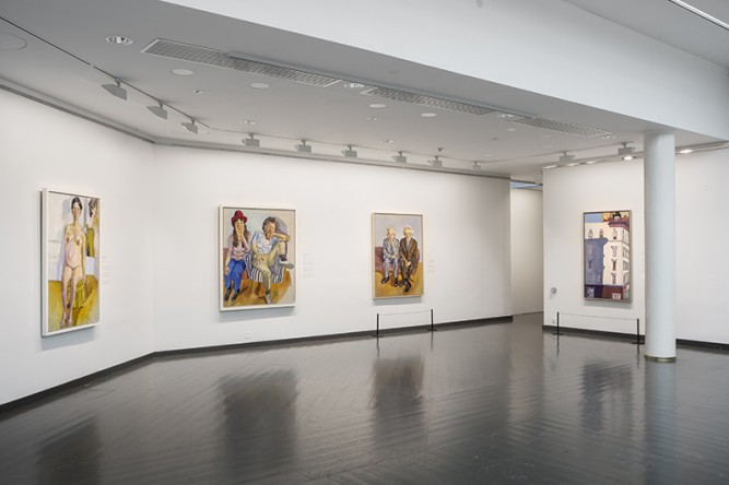 Installation view: Alice Neel: Painter of Modern Life, Ateneum Art Museum, Helsinki.<br /> Photo Jenni Nurminen / Finnish National Gallery