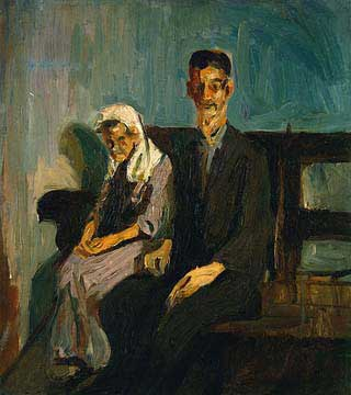 Beggars, Havana, Cuba 1926 Oil on Canvas 50.8 x 45.7 cm<br /> Private Collection